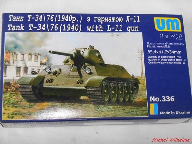 T34/76  modéle 1940  .début de  version. 1/72 maquette UM 1902130902075625616118269
