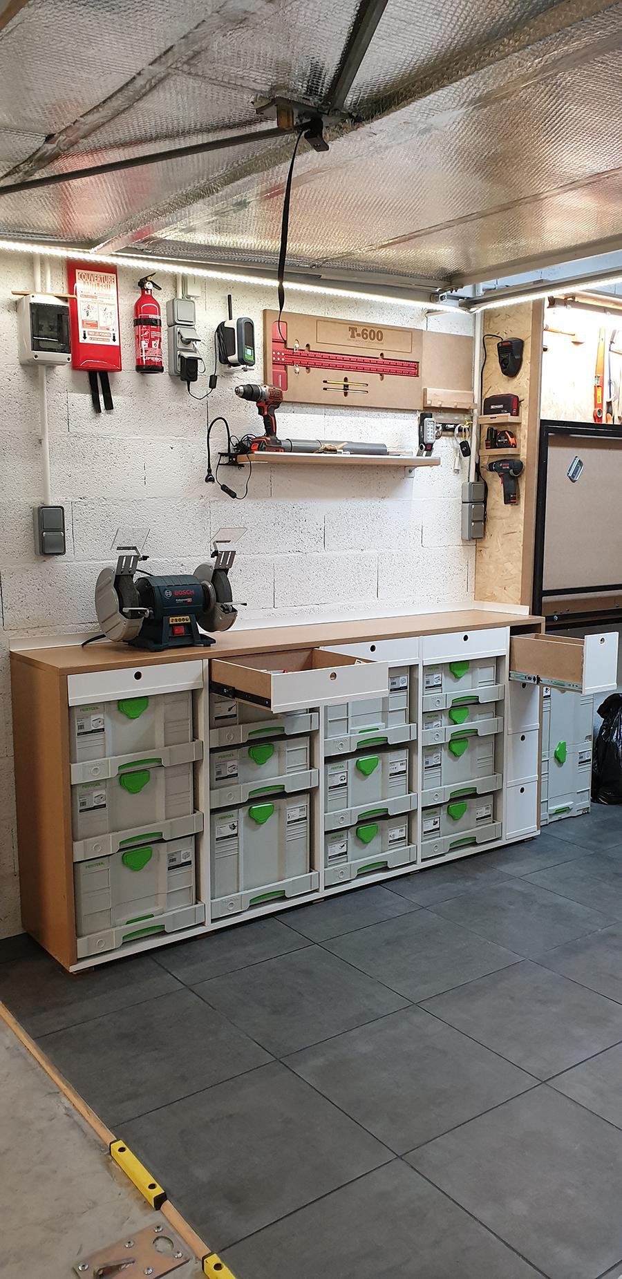 Petit établi pour petit garage... La suite, meuble systainer Festool 19021409124524320016120394