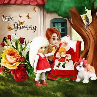 kittyscrap_I_Love_my_Granny_pageZanthia