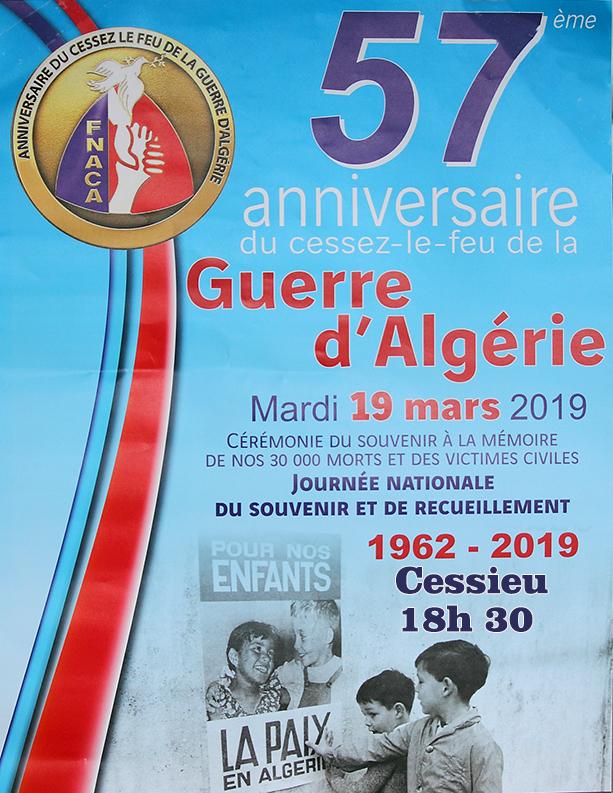 commémoration algérie 2019