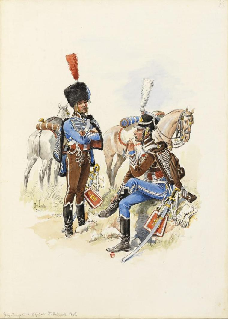 Capitaine du 2ème régiment de Hussards - Terminé 19030606430110262916148011