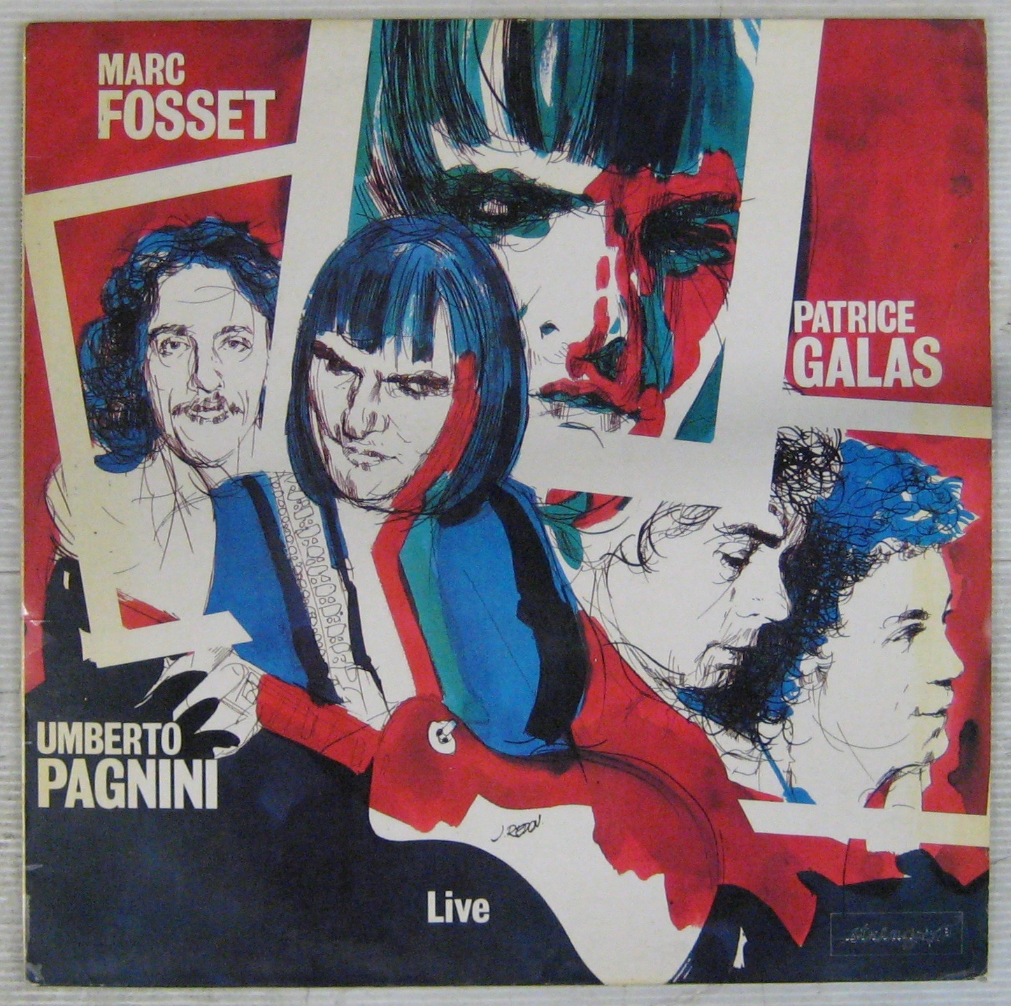 GALAS FOSSET PAGNINI - Live - LP