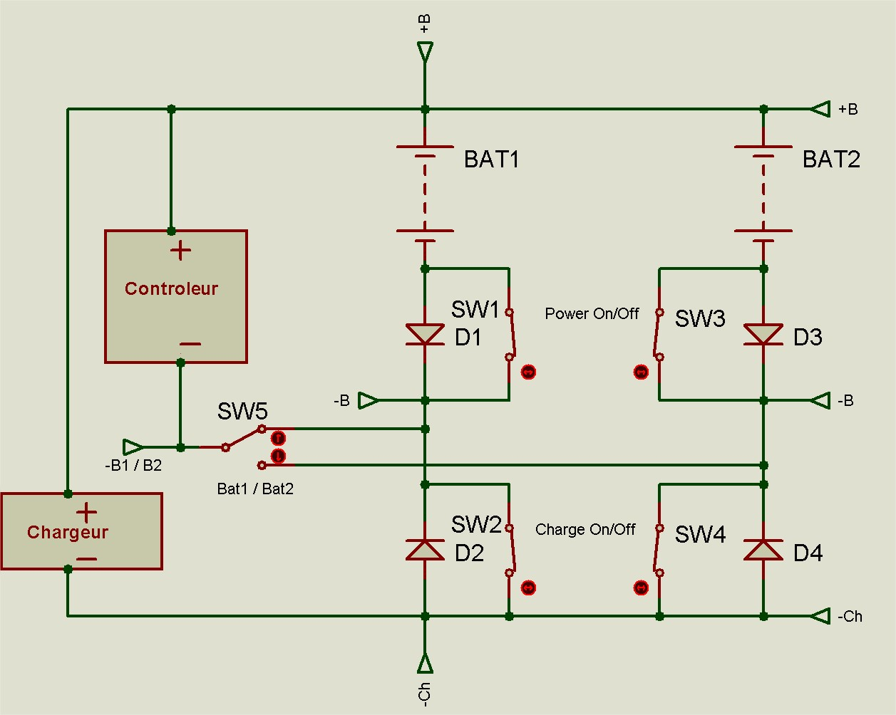 Pourquoi il ne faut pas mettre en dérivation complète deux batteries 19052109582812779416246433