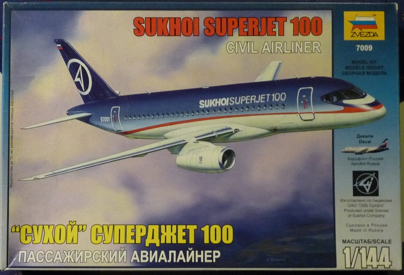 Sukkoi  Su100-95B Superjet Zvezda 1/144 1906030521055669816260979