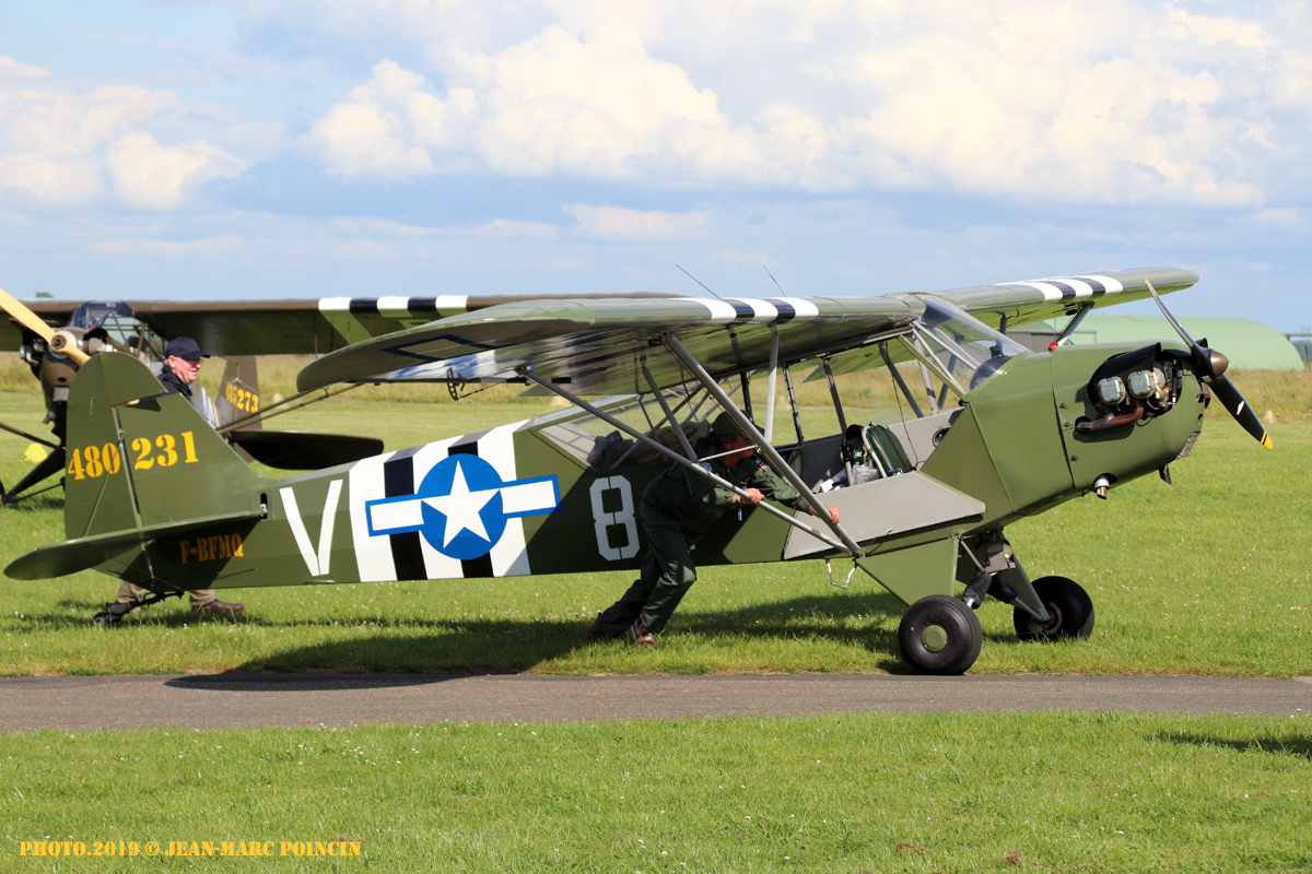 Piper J-3C65 Cub F-BFMQ_L-Bird St André Eure_Photo.2019©J-M POINCIN_4847mr