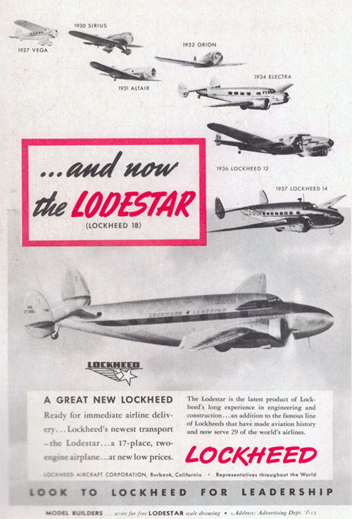 Pub Lockheed dans Popular Aviation Dec 1939