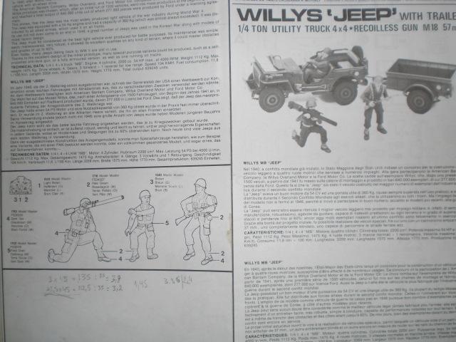 "[ITALERI] Willys MB ""jeep"" 1/35 REF 314 Notice 19072003485523569816321348"