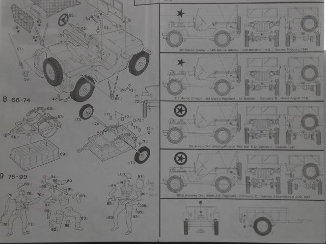 "[ITALERI] Willys MB ""jeep"" 1/35 REF 314 Notice 19072003485623569816321350"