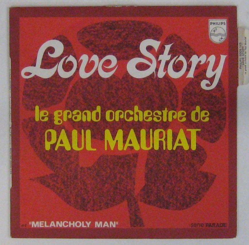 MAURIAT PAUL ET SON GRAND ORCHESTRE - Love story - 45T (SP 2 titres)