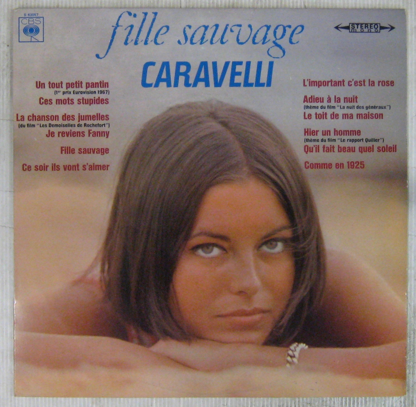 CARAVELLI - Fille sauvage - 33T