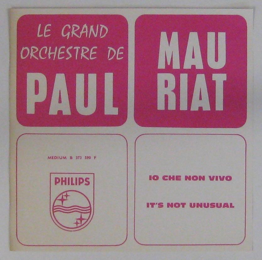 MAURIAT PAUL ET SON GRAND ORCHESTRE - Io che non vivo - 45T (SP 2 titres)