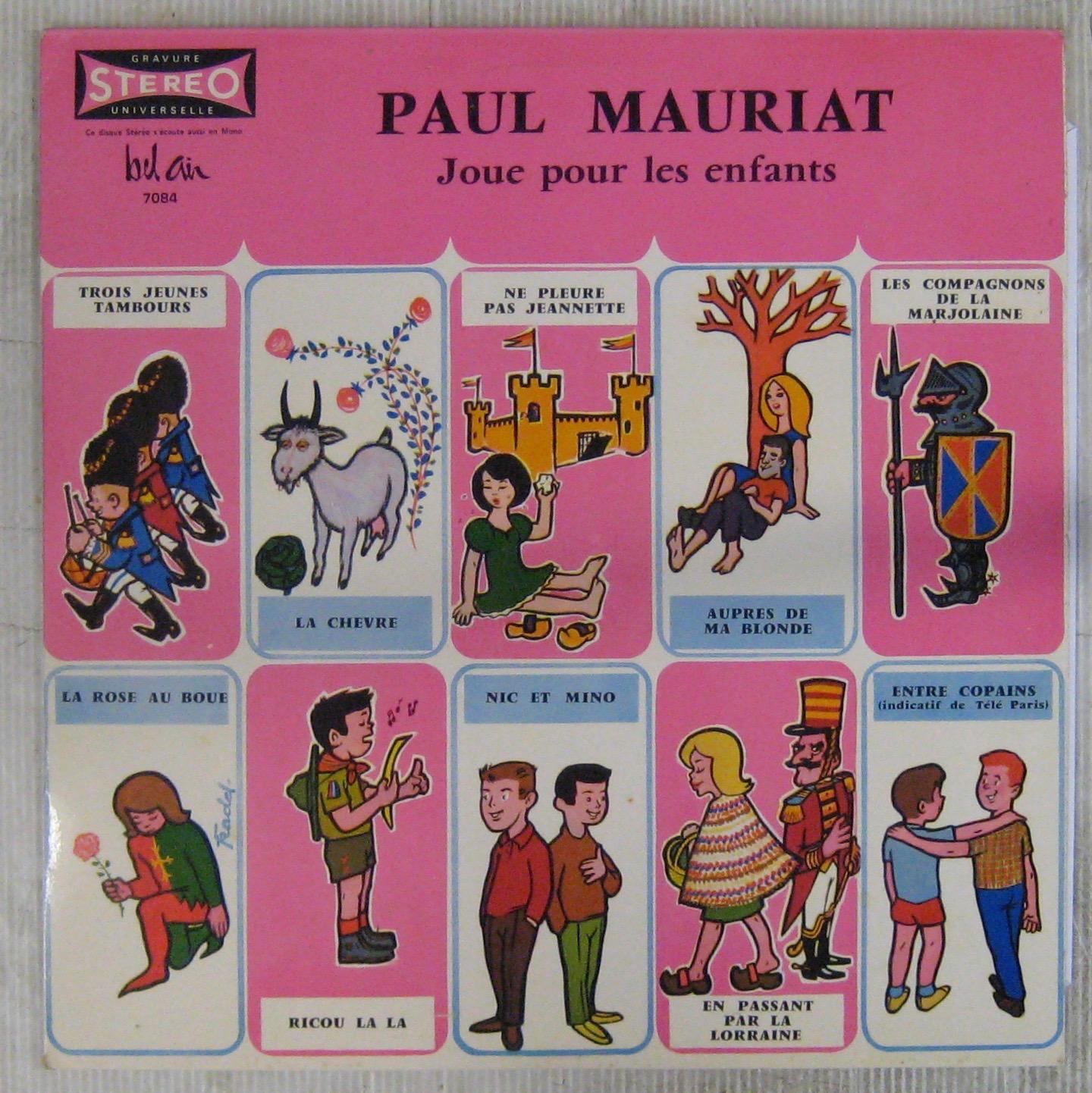 MAURIAT PAUL ET SON GRAND ORCHESTRE - Joue pour les enfants - 33T