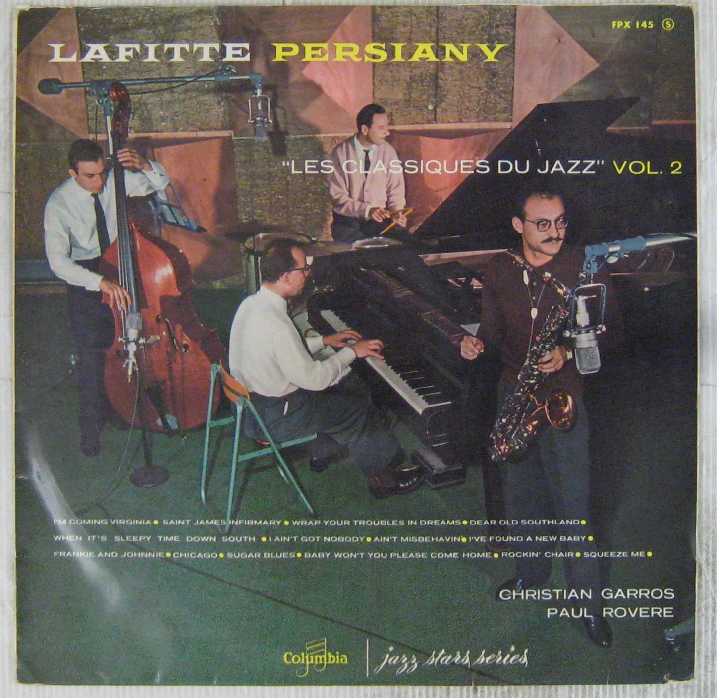 LAFITTE GUY/PERSIANY ANDRÉ - Les classiques du jazz Volume 2 - LP