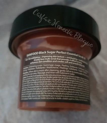 gommage black sugar skinfood