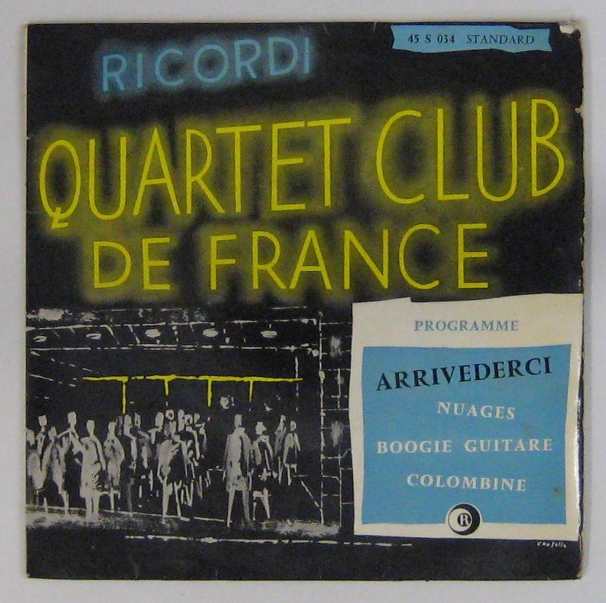 QUARTET CLUB DE FRANCE - Arrivederci - 7inch (EP)