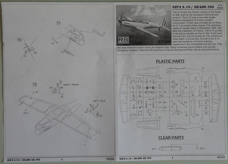 SIPA S.10/ Arado Ar-396  RS models 1/72 1908101230535669816351753