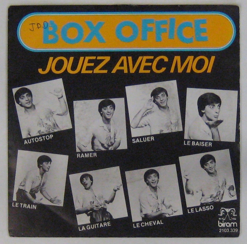BOX OFFICE - Jouez avec moi - 45T (SP 2 titres)