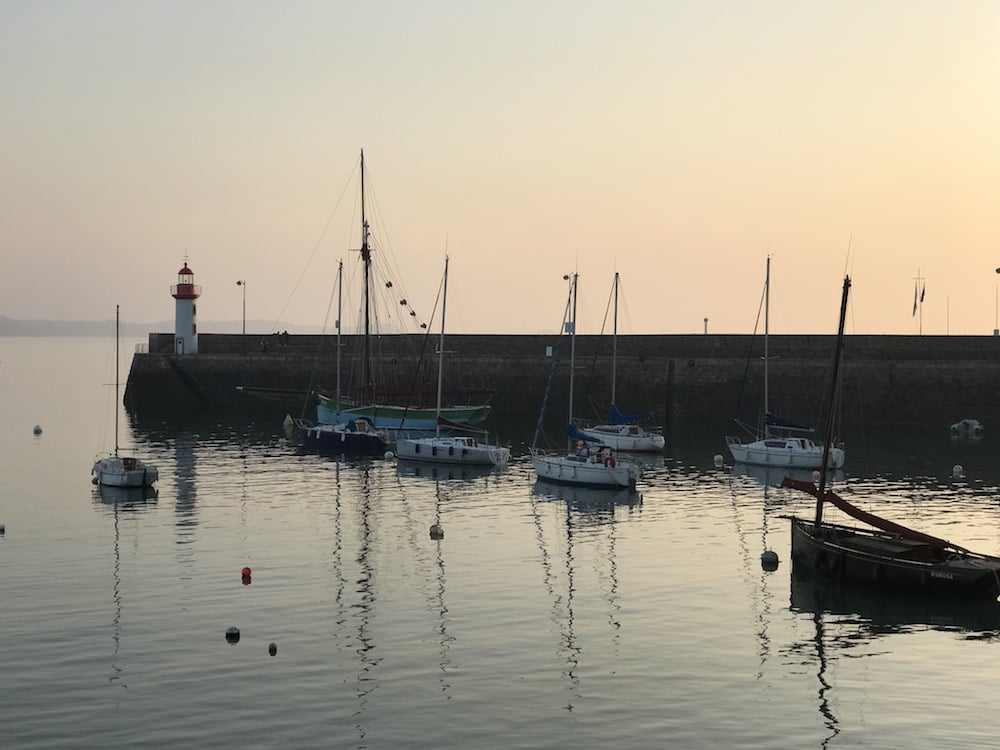 The harbor and its lighthouse