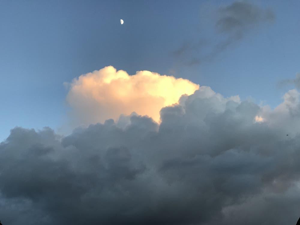 Winter sun in the clouds