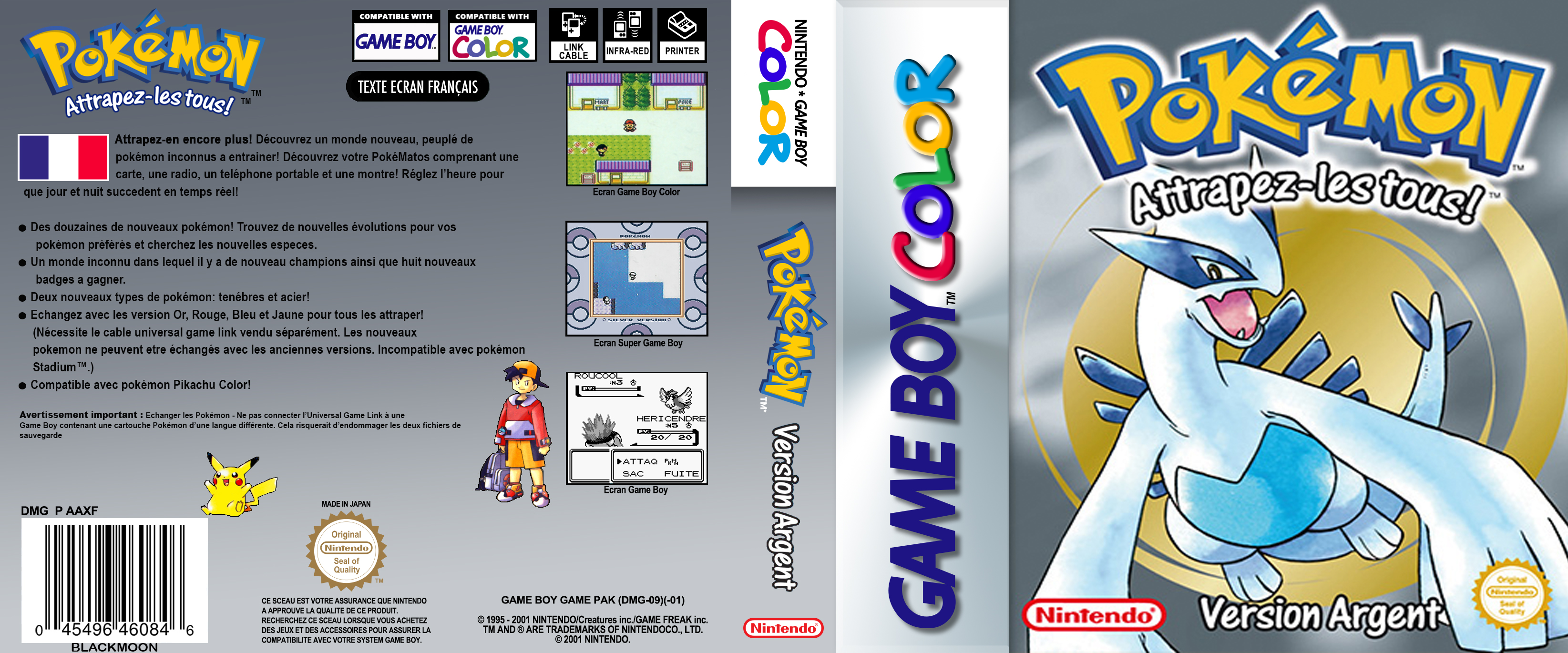 COVERS DS E.U POKEMON SYLVER FRENCH
