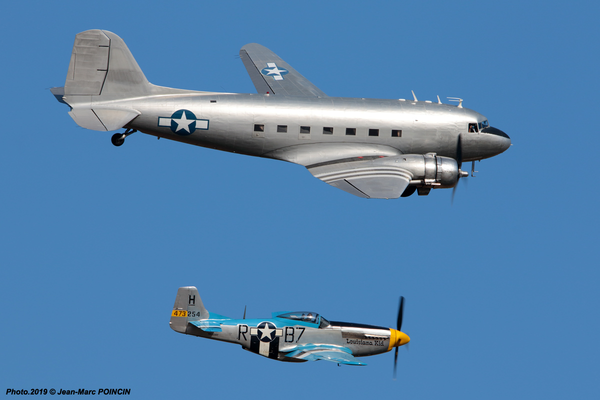 C-47 Chalair F-AZOX + P-51D Louisiana Kid_Melun_Photo.2019©JM POINCIN_2577mr