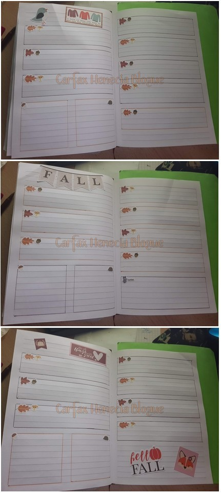 pages bullet journal automne