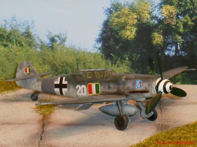 MESSERSCHMITT 109  G.12 AZ model 1/72 1910090651185625616452136