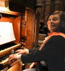 Monique Cieren à l'orgue