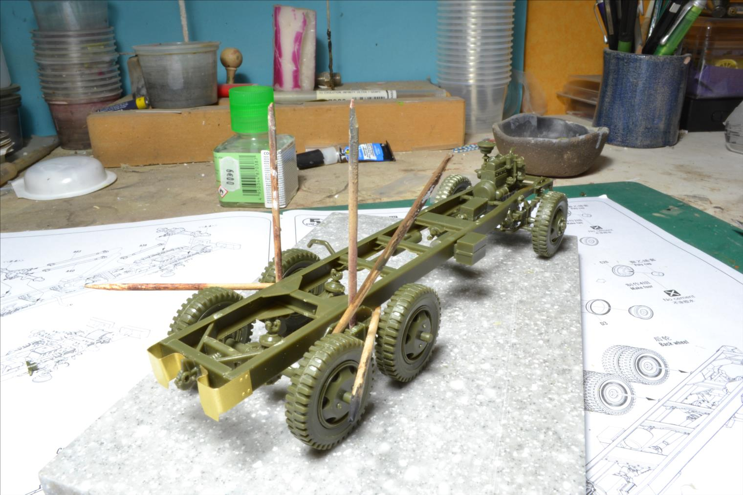 INDOCHINE GMC Bofors (Hobby Boss) 1/35 19110809114622494216500105