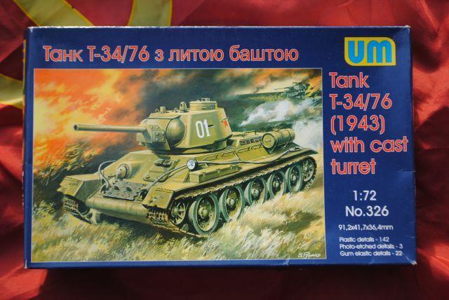 T34/76  modéle 1943  tourelle moulée. 1/72 maquette UM 1911090854105625616500482