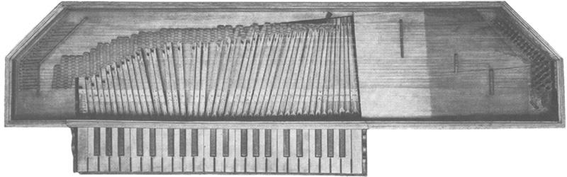 Fabrication d'instruments de musique anciens de bgire MFQ3Ib-1992-Clavicorde-Pisaurensis-01