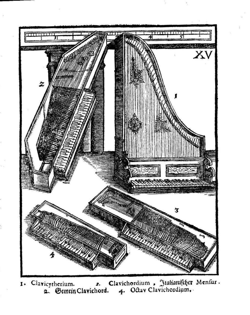 Fabrication d'instruments de musique anciens de bgire MMQ3Ib-Clavicordes