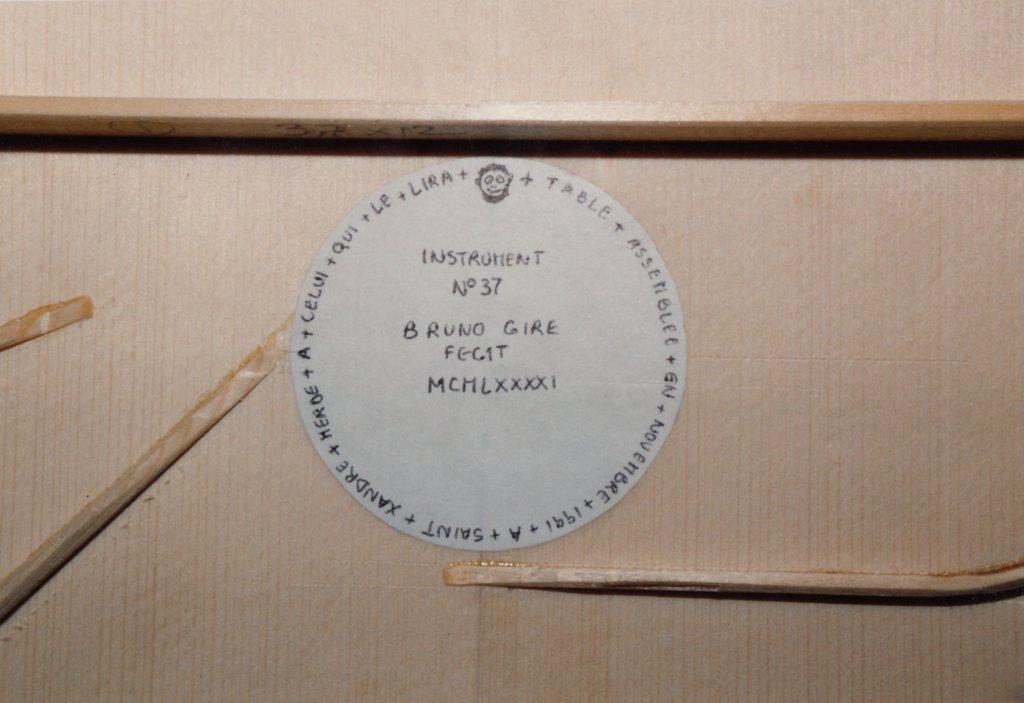 Fabrication d'instruments de musique anciens de bgire 19111306431723134916508236