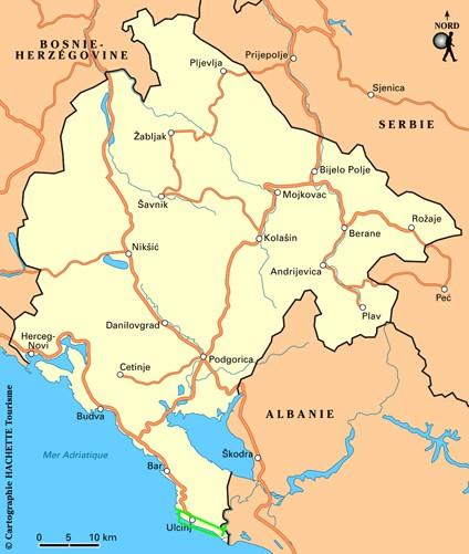montenegro[ carte Ulcinj