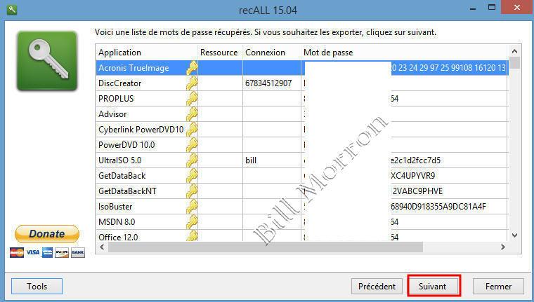 RecALL : sauvegarder ses mots de passe de navigateurs et licences de logiciels 19112202284517227916522215