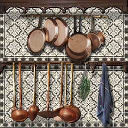 carrelage cuisine avec  torchon