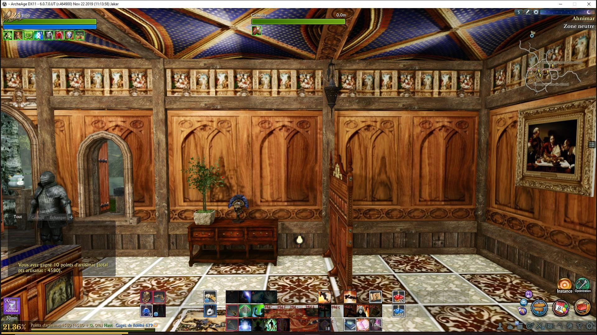 Mur Renaissance avec fresque