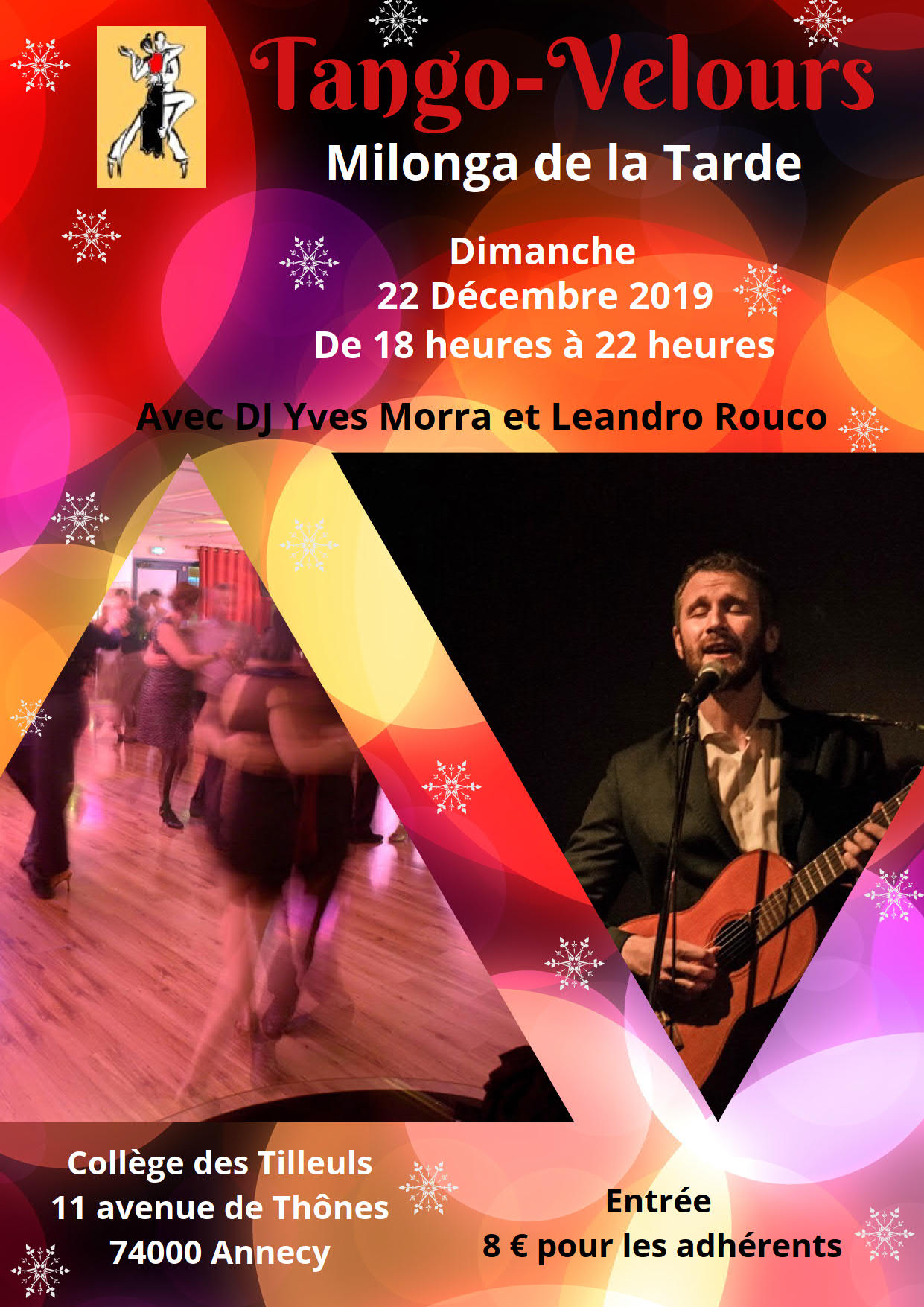 milonga de la Tarde, avec D.J. Yves Morra et Leandro Rouco