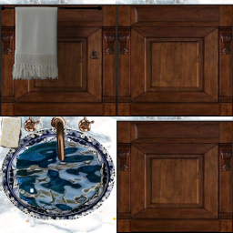 Evier bleu émail