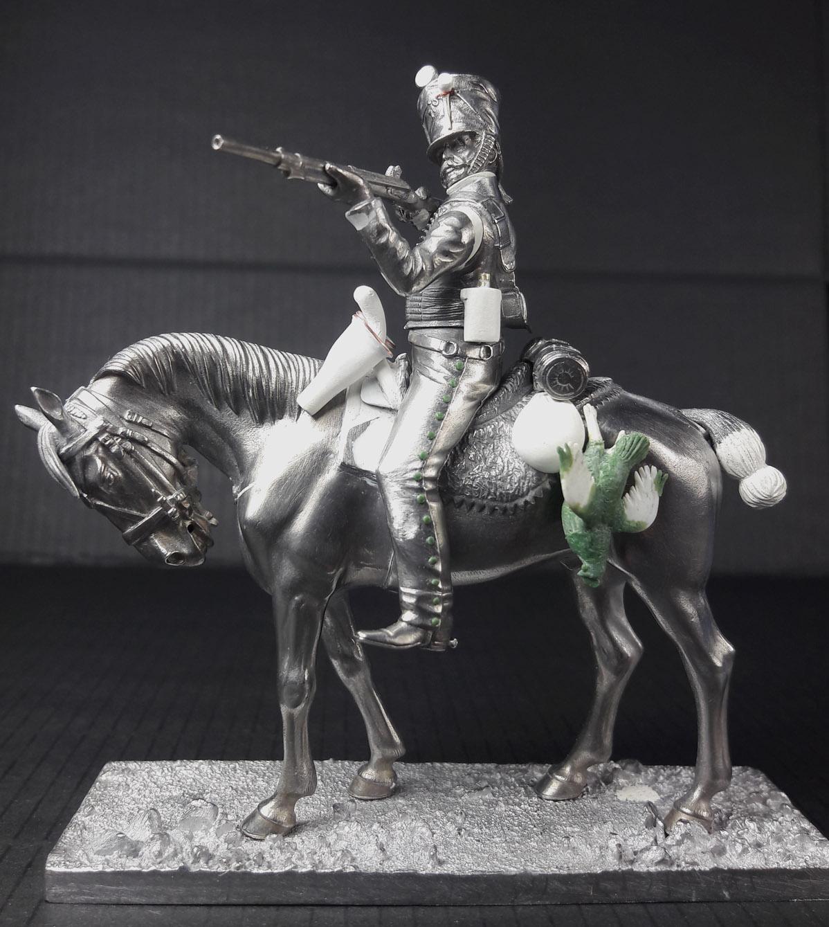 Hussard du 9ème Régiment en tenue de route après 1812 2003120739183593416685839