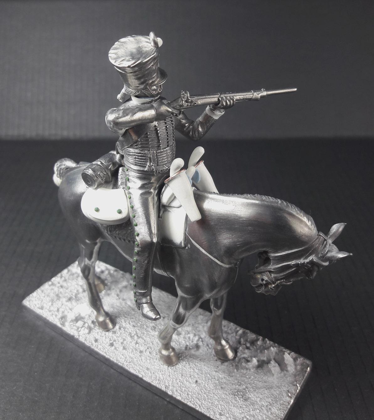 Hussard du 9ème Régiment en tenue de route après 1812 2003120739223593416685841