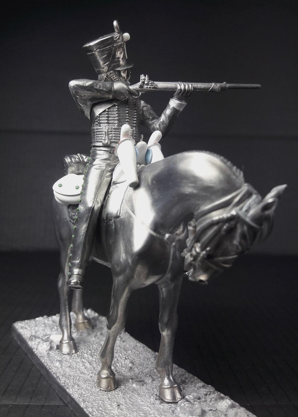 Hussard du 9ème Régiment en tenue de route après 1812 2003120739263593416685842