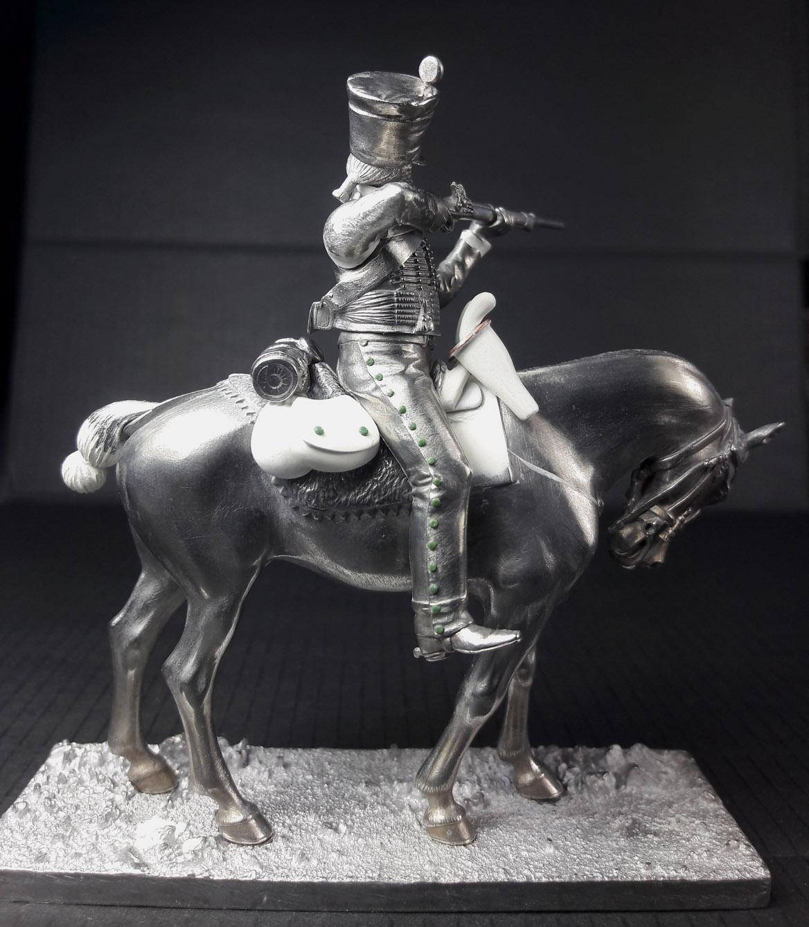 Hussard du 9ème Régiment en tenue de route après 1812 2003120739293593416685844