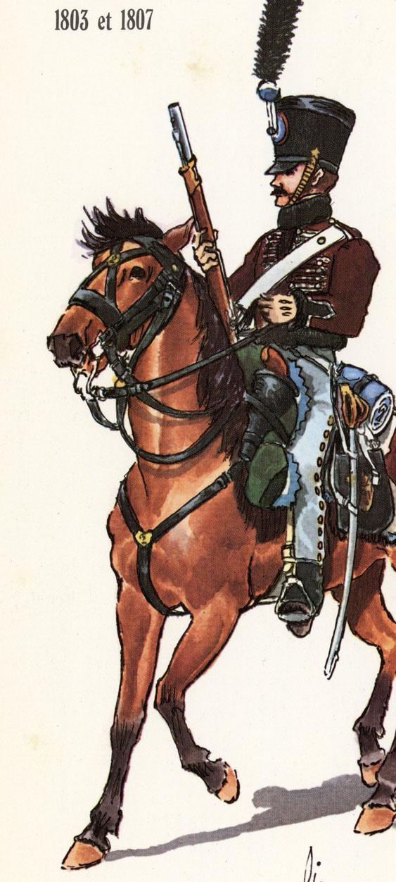 Hussard du 9ème Régiment en tenue de route après 1812 2003131250373593416686724