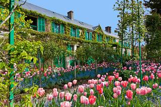 monet-giverny-maison-tulipes