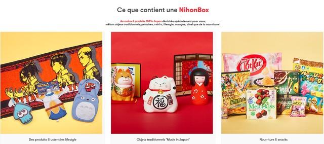 ce que contient nihonbox