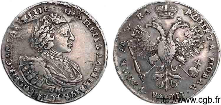 Rouble Pierre le Grand 1721