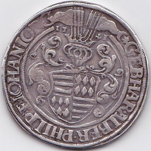 Thaler Mansfeld Vorderort 1541 Eisleben R/