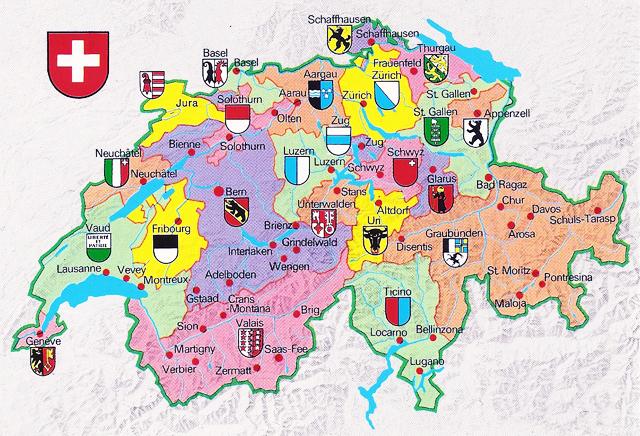Carte de la Suisse Gjv2Jb-001-Carte-B