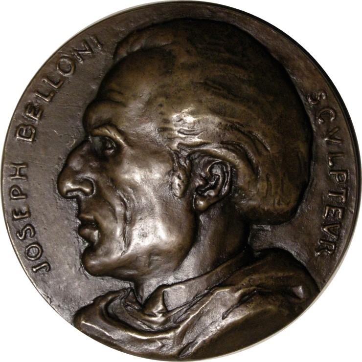 Joseph Belloni par Rousselon. Bronze coulé 92 mm.
